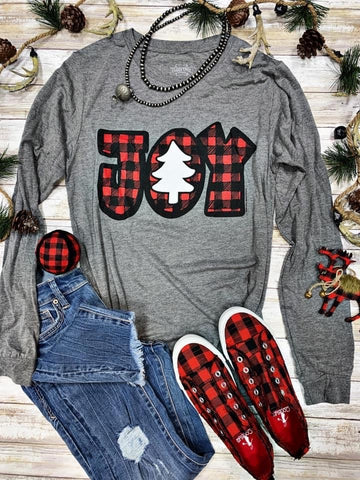 Joy Buffalo Plaid Long Sleeve T-Shirt