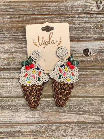Bead Ice Cream Earrings