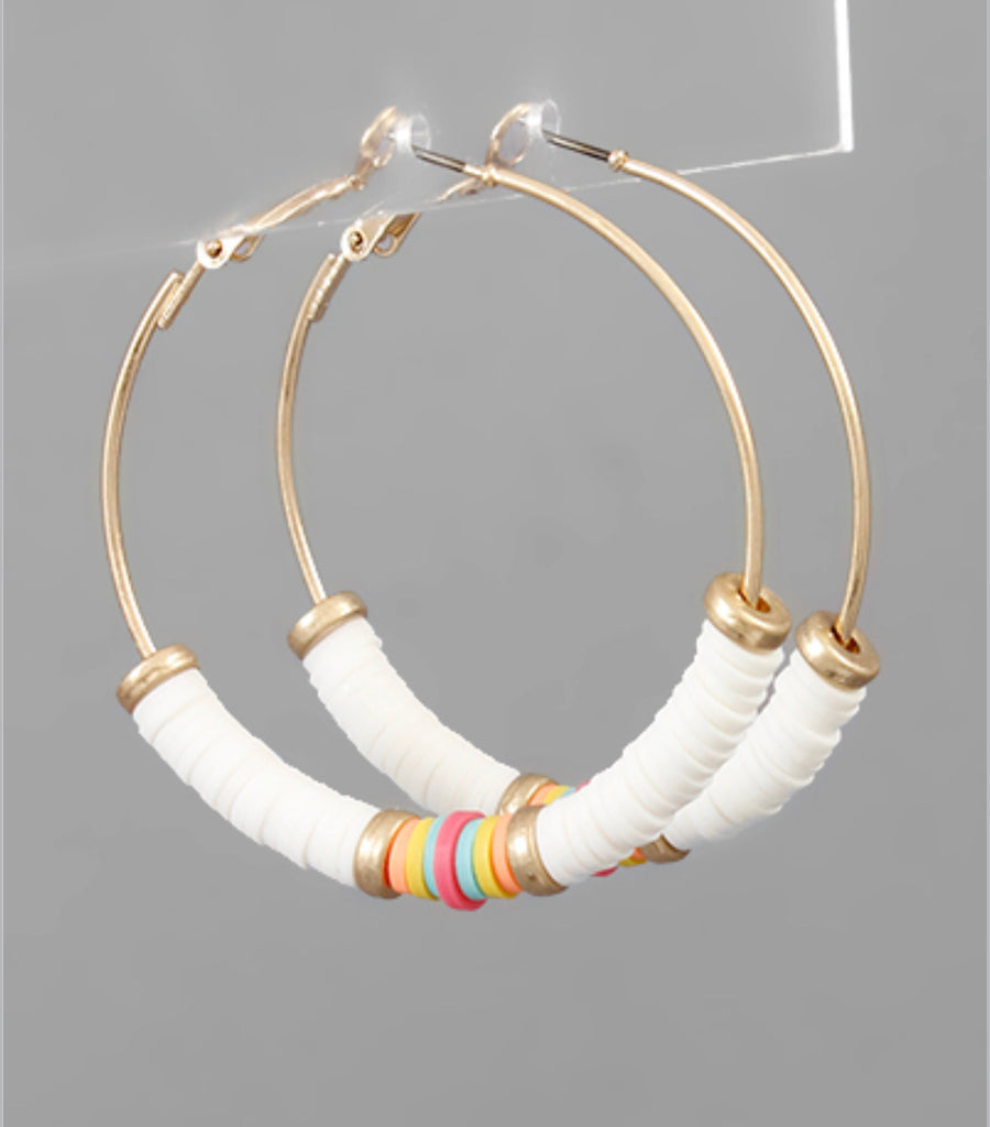 Color Rubber Bead Hoops