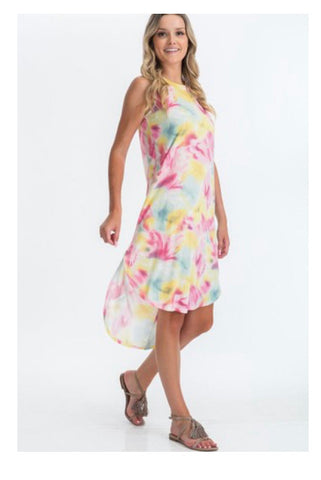Happy To Be Here Tie Dye Dress - Pink