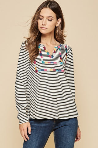 Higher Love Embroidered Top