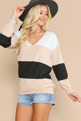 Lena Color Block Sweater