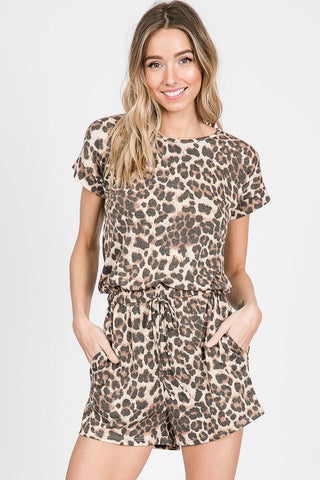 Nothing Typical Leopard Romper