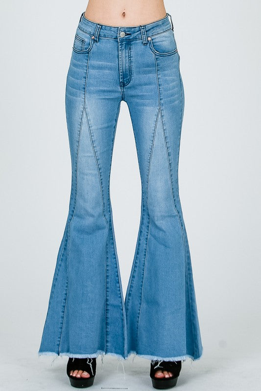 Take On The Town Flare Denim Jeans
