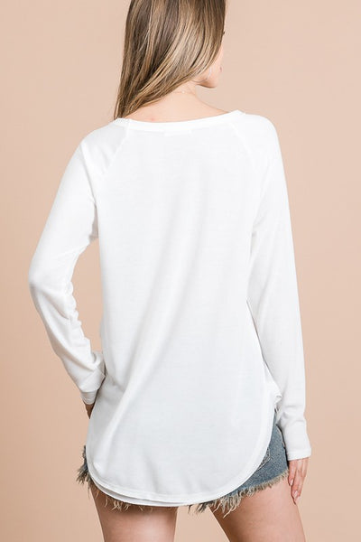 Collins Long Sleeve Top - White