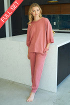 Avah Loungewear Set - Mauve