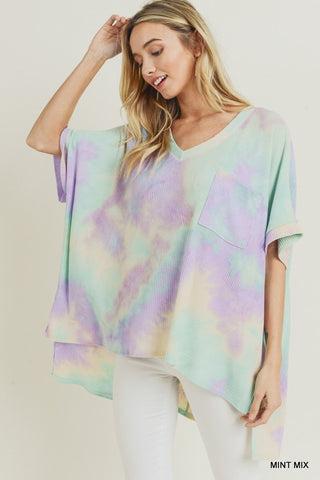 Let's Do Lunch Tie Dye Top - Mint