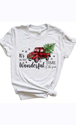 Most Wonderful Time Of The Year Tee - Ash Gray
