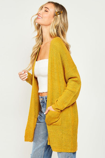 Go Ahead Now Cardigan - Mustard