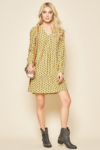 Just Have Fun Dress - Mustard