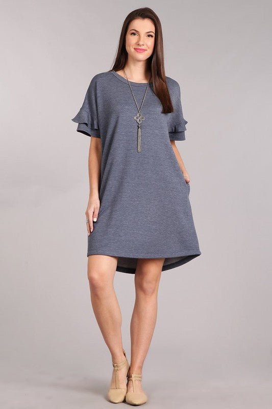 Falling For You Dress -Navy