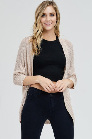 Finley Elbow Sleeve Cardigan - Blush