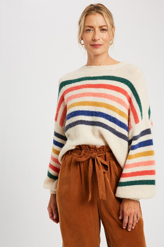 Let It Go Striped Sweater