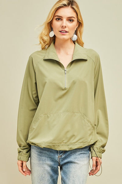 Easy Like Sunday Morning Pullover - Olive