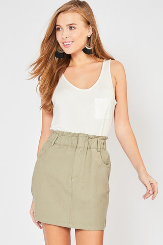 Star Player Skirt - Olive
