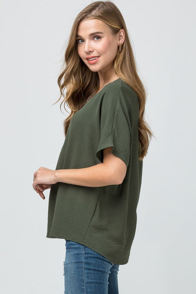 Always On The Go Top - Olive
