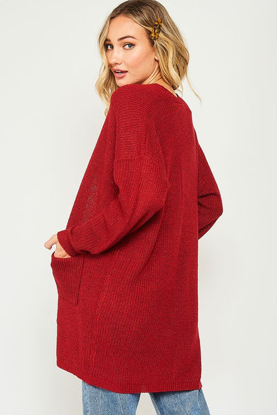 Go Ahead Now Cardigan - Red
