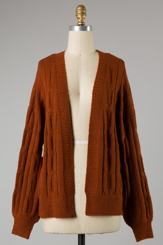 Cozy Up Cardigan - Rust