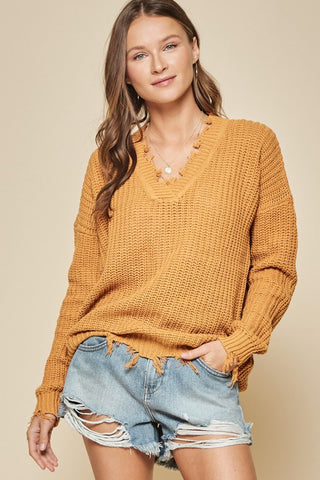 Can't Stop The Kisses Sweater - Rust
