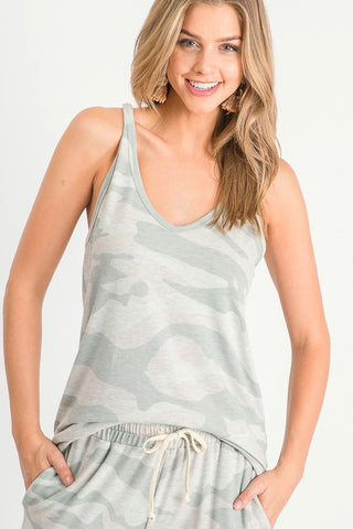 Down To Chill Tank - Sage Camo