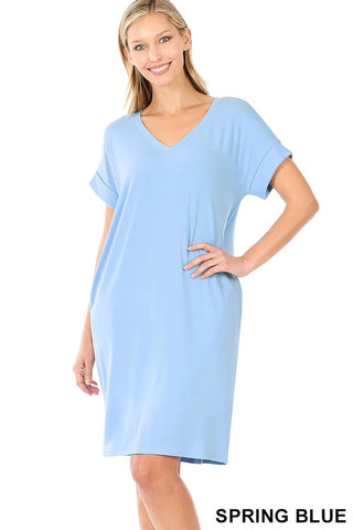 Easy Does It Shirt Dress - Blue