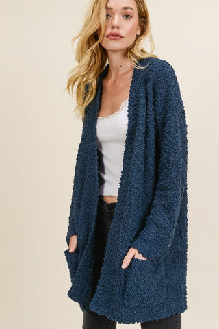 Cheers For Cozy Cardigan -Teal