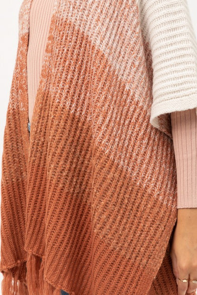 Uptown Girl Striped Cardigan - Rust