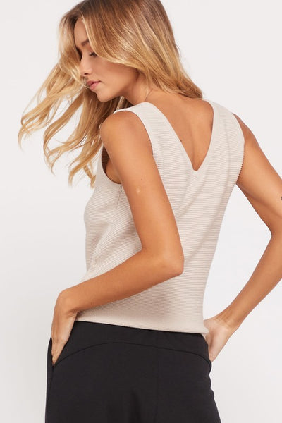 Best of Me Tie Front Tank - Taupe