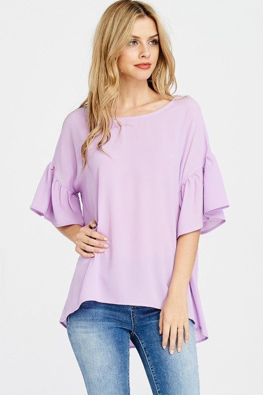 Watch And See Fuchsia Top