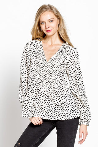 So Lovely Top - Black Dot