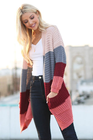 Amira Colorblock Cardigan