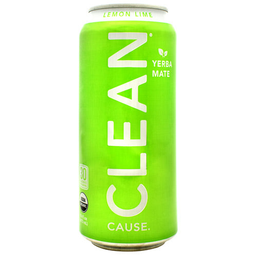 Clean Cause Sparkling Yerba Mate Lemon Lime