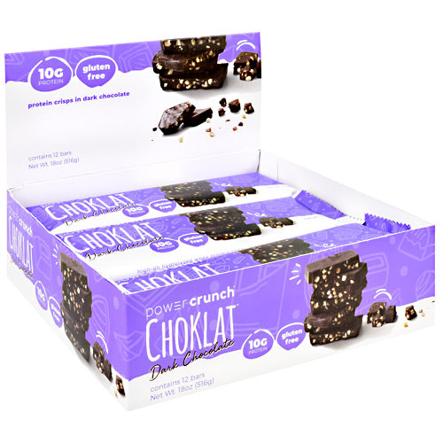 Power Crunch Choklat Crunch Protein Crisps Dark Chocolate - Gluten Free