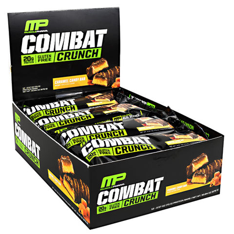 MusclePharm Combat Crunch Caramel Candy Bar - Gluten Free