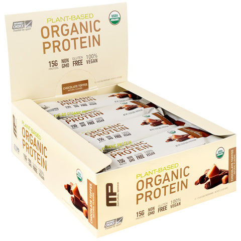 MusclePharm Natural Series Organic Protein Bar ChocolateToffee - Gluten Free