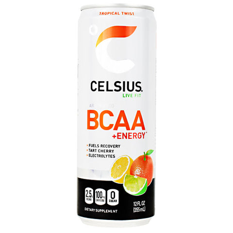 Celsius Carbonated BCAA+Energy Tropical Twist