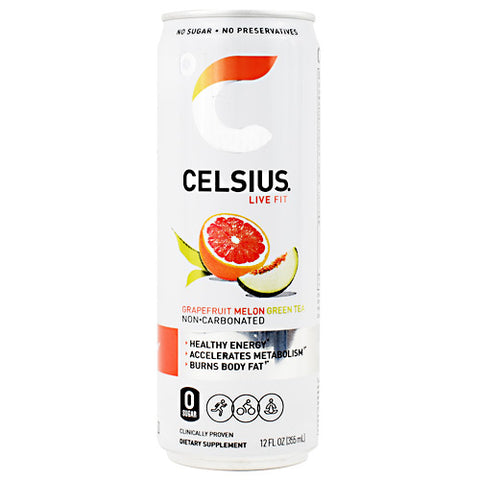 Celsius Non-Carbonated Celsius Grapefruit Melon Green Tea - Gluten Free