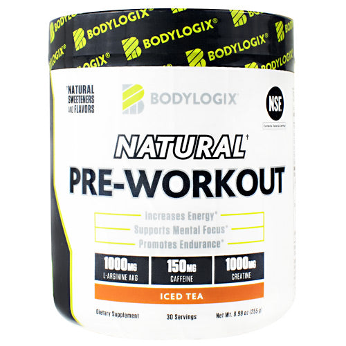 BodyLogix Natural Pre-Workout Iced Tea - Gluten Free