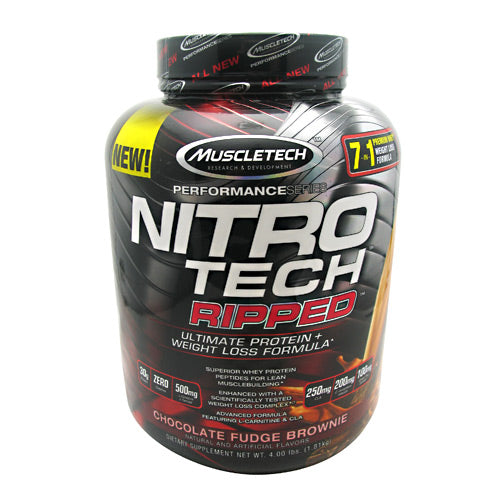 Muscletech Performance Series Nitro Tech Ripped Chocolate Fudge Brownie