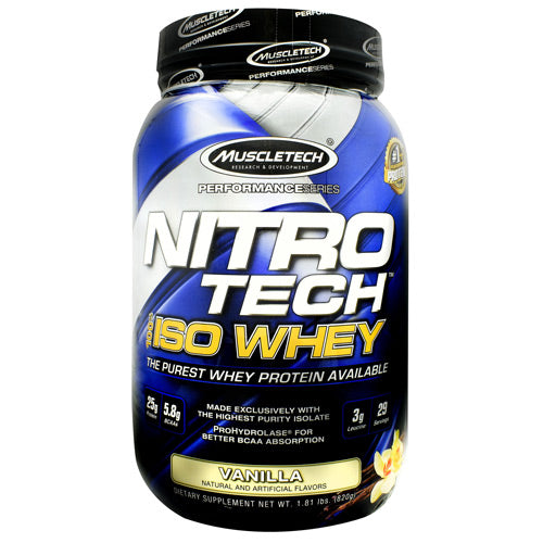 Muscletech Performance Series Nitro-Tech 100% ISO Whey Vanilla