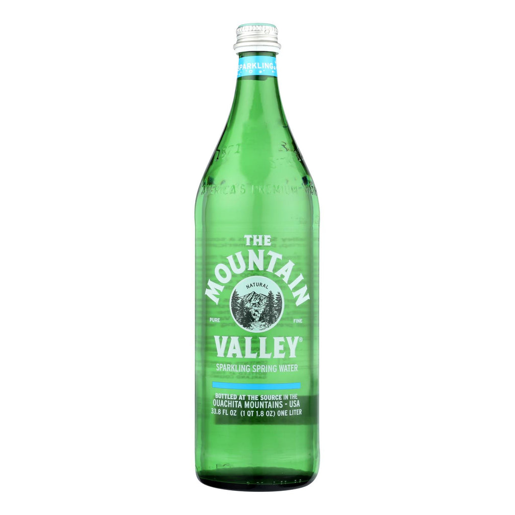 The Mountain Valley Sparkling Spring Water  - Case Of 12 - 1 Ltr