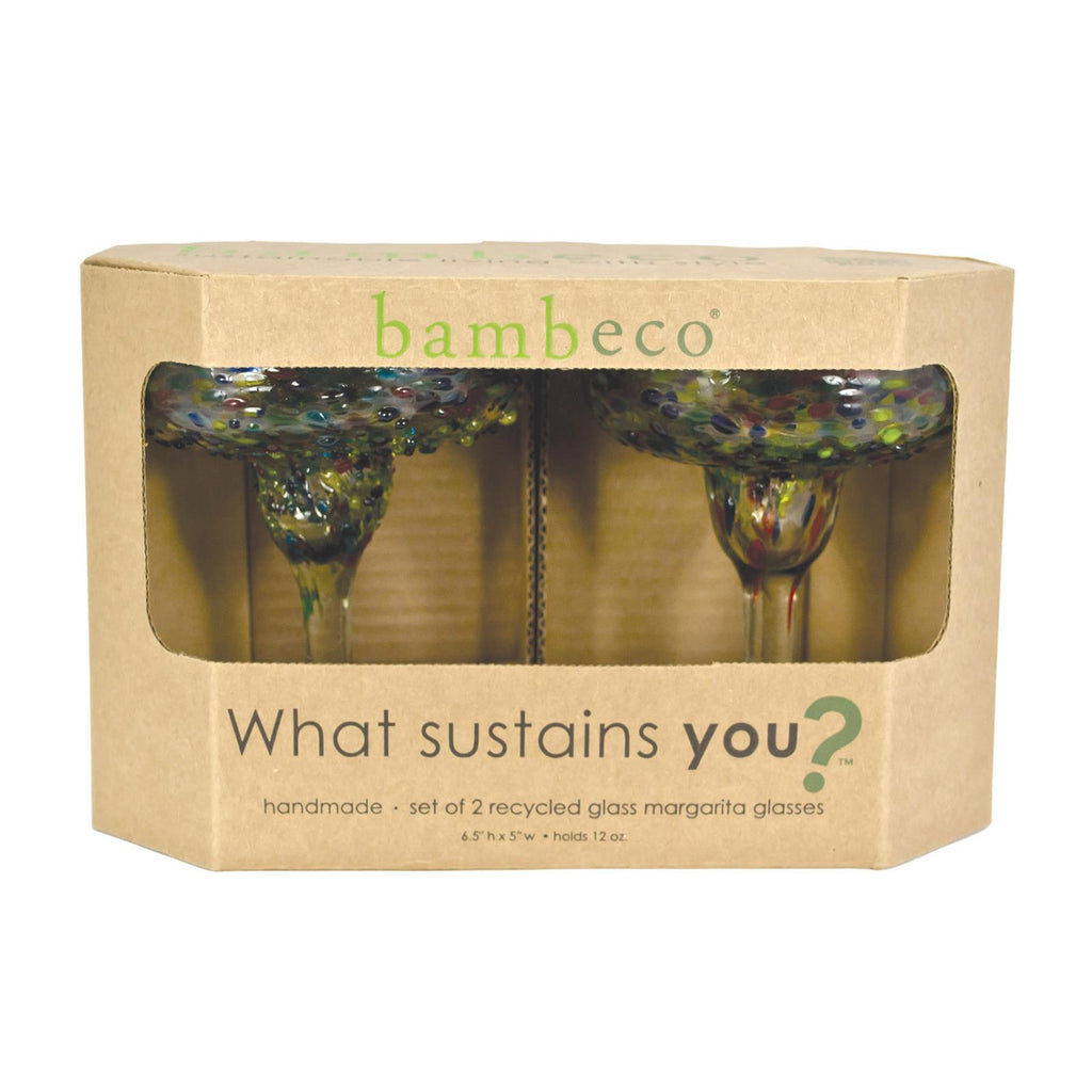 Bambeco Confetti Recycled Margarita Glass - Case Of 6