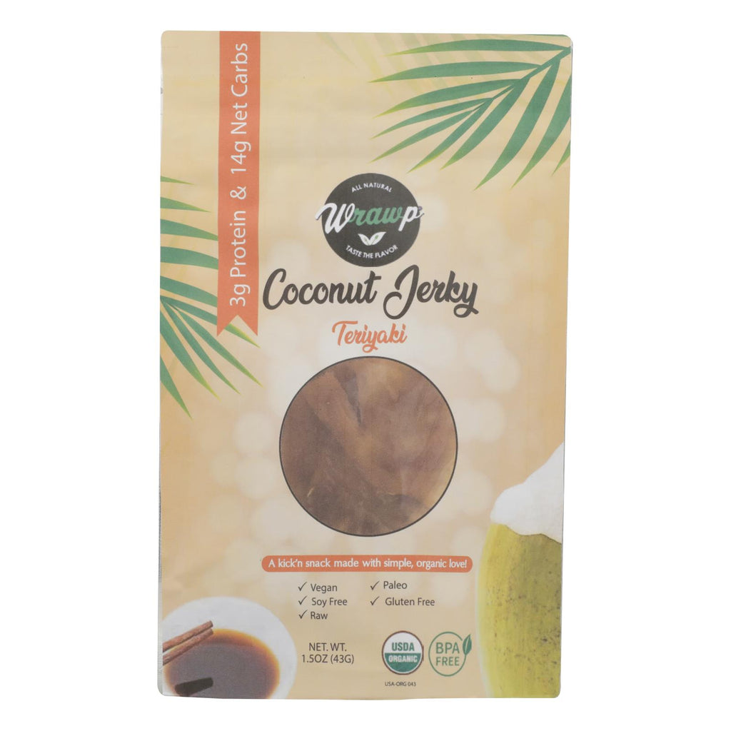Wrawp - Jerky Coconut Teriyaki - Case Of 8 - 1.5 Oz