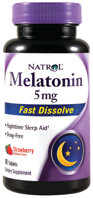 Melatonin 5mg Fast Diss Straw 90 TAB
