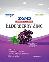 Elderberry Zinc Lozenges 80 LOZ