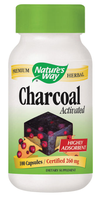Activated Charcoal Green Bottle 100 CAP