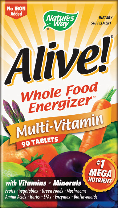 Alive No Iron Added 90 TAB
