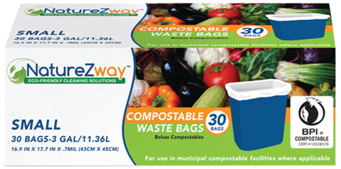 3 Gallon Waste Bags 30 CT
