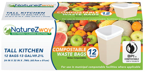 13 Gallon Waste Bags 12 CT