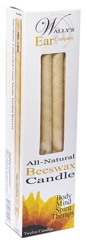 100%% Beeswax Candles 12-PACK